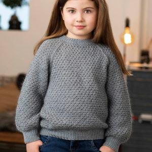 Strikkeopskrift - den bløde sweater - børnesweater - onion