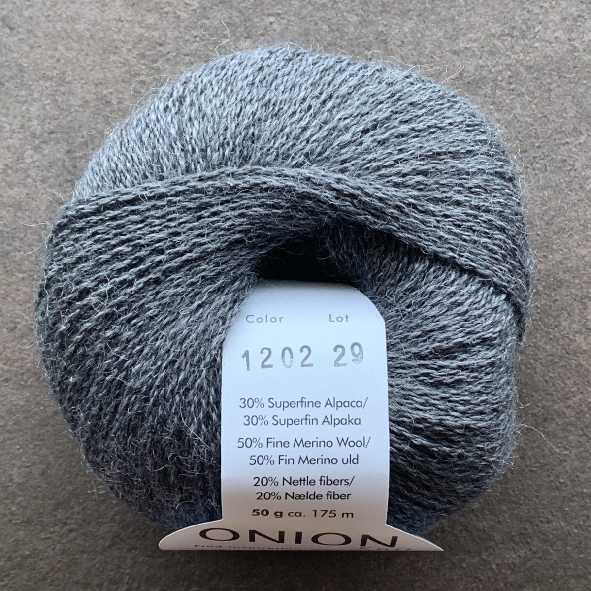 Alpaca + merino Wool + Nettles - Grå