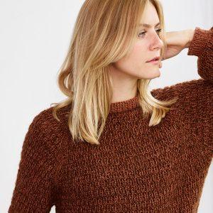 Strikkeopskrift ONION - Berlin - sweater med vaffelmønster onion