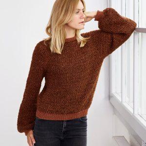 3Strikkeopskrift ONION - Berlin - sweater med vaffelmønster onion