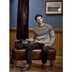 Istex strikkeopskrift islandsk sweater - Eilífð sweater til mænd og damer - Pindeliv