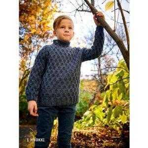 Istex strikkeopskrift islandsk sweater til børn i lettlopi - Hnokki