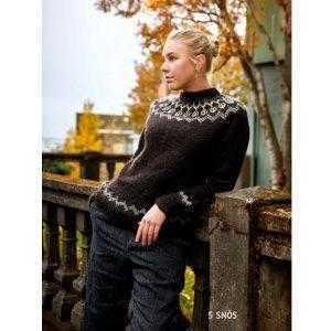 Istex strikkeopskrift islandsk sweater - Snös - Pindeliv